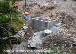 Kingussie Community Hydro Settling Chamber